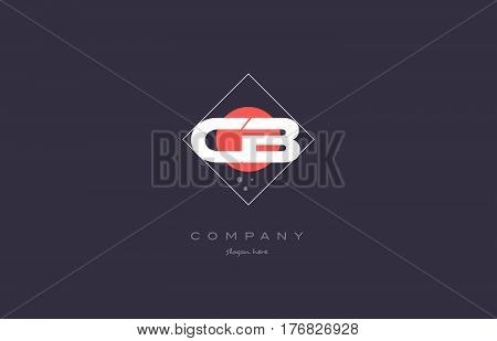 cb c b vintage retro pink purple rhombus alphabet company letter logo design vector icon creative template background stock photo