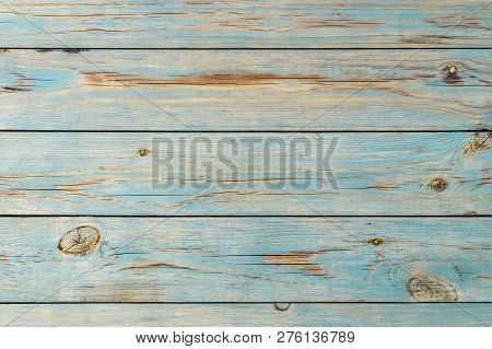 Blue Wooden Background. Blue Faded Painted Wooden Texture, Background, Wallpaper. Wooden Background,