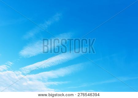 Angel wing - Blue sky with phenomenal white clouds. Background with space for your own trxt stock photo