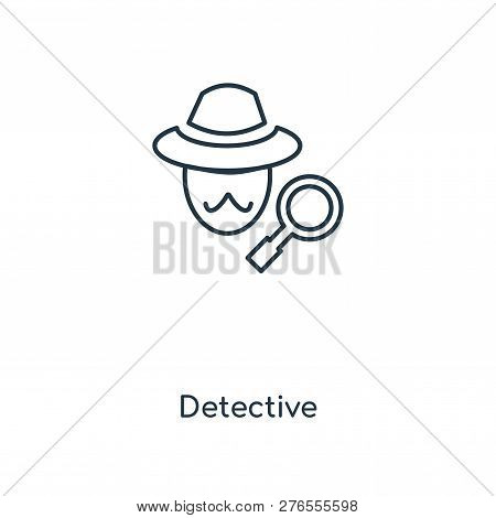 detective icon in trendy design style. detective icon isolated on white background. detective vector icon simple and modern flat symbol for web site, mobile, logo, app, UI. detective icon vector illustration, EPS10. stock photo