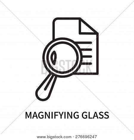 Magnifying glass icon isolated on white background. Magnifying glass icon simple sign. Magnifying glass icon trendy and modern symbol for graphic and web design. Magnifying glass icon flat vector illustration for logo, web, app, UI. stock photo