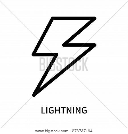 Lightning icon isolated on white background. Lightning icon simple sign. Lightning icon trendy and modern symbol for graphic and web design. Lightning icon flat vector illustration for logo, web, app, UI. stock photo