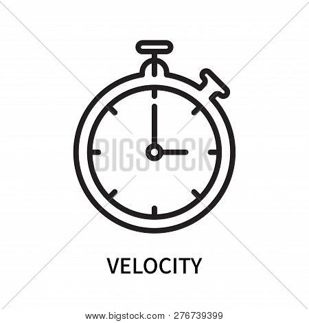 Velocity icon isolated on white background. Velocity icon simple sign. Velocity icon trendy and modern symbol for graphic and web design. Velocity icon flat vector illustration for logo, web, app, UI. stock photo