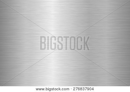 Brushed Metal Texture. Steel Background. Vector Illustration.