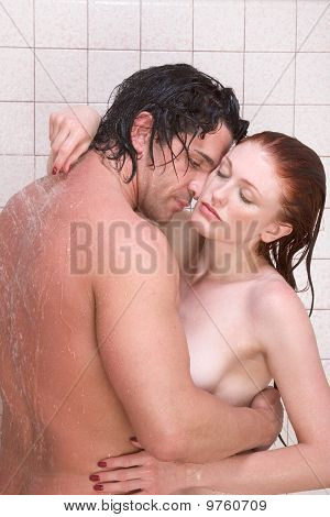 Girls in the shower naked making out