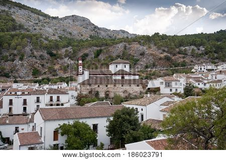 Views of Grazalema Cadiz. This village is part of the pueblos blancos (white towns) in southern Spain, Andalusia region, and reminds the Arab past
