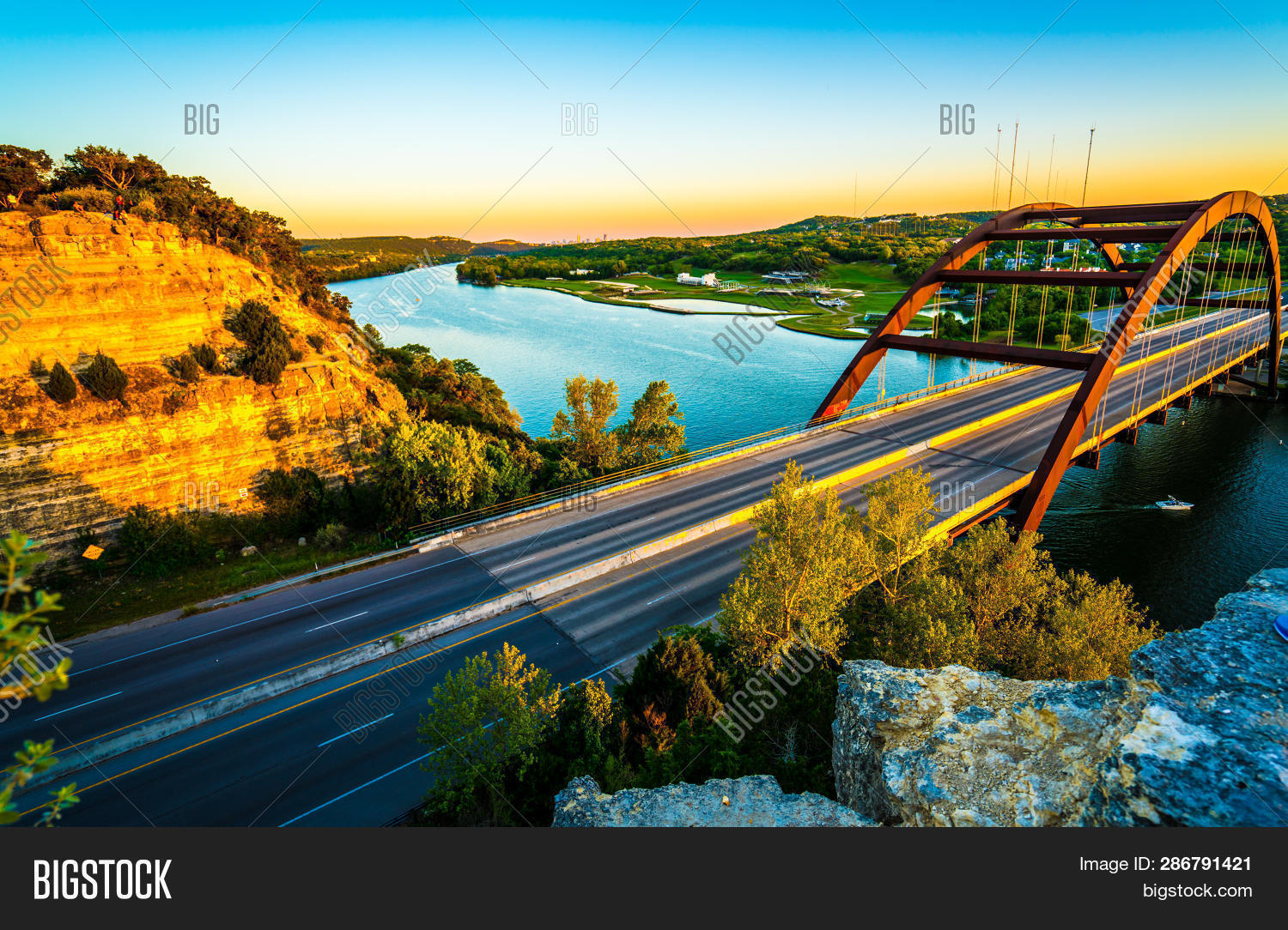 360,Austin,Colorado,Lake,Pennybacker,River,Skyline,Texas,Town,USA,a,across,at,background,bridge,cannon,colorful,gorgeous,in,landmark,of,or,spanning,summer,sunset,suspension,the,with