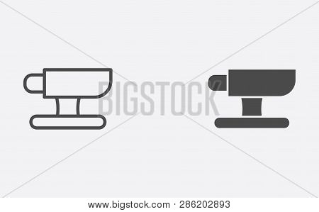 Anvil icon vector, filled flat sign, solid pictogram isolated on white. Symbol, logo illustration. stock photo