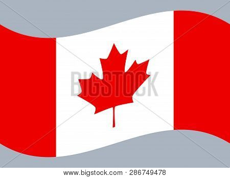 Canada flag, official colors and proportion correctly. National Canada flag. stock photo