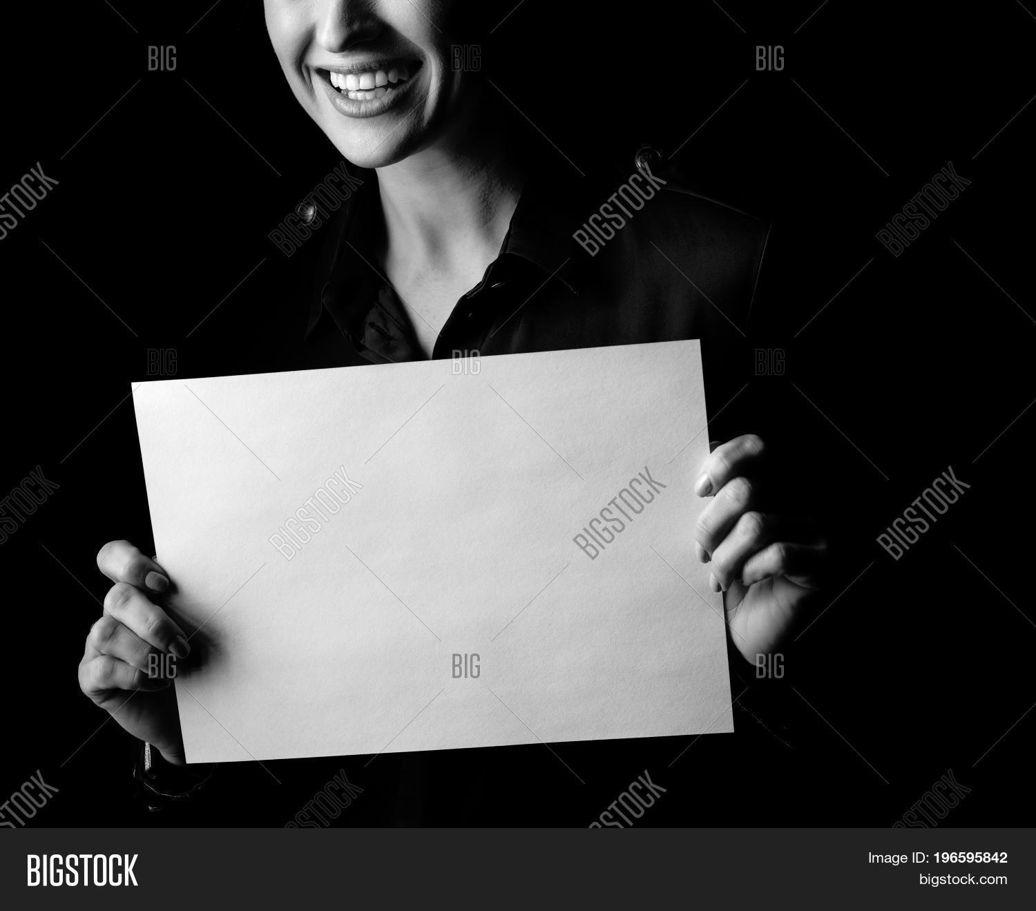 ad,adult,advert,advertisement,announcement,background,banner,black,blank,board,bw,card,caucasian,close,closeup,dark,dress,female,femininity,hand,info,information,isolated,manifest,manifesto,monochrome,notice,one,portrait,poster,require,sheet,show,showing,signboard,statement,white,woman,womanly
