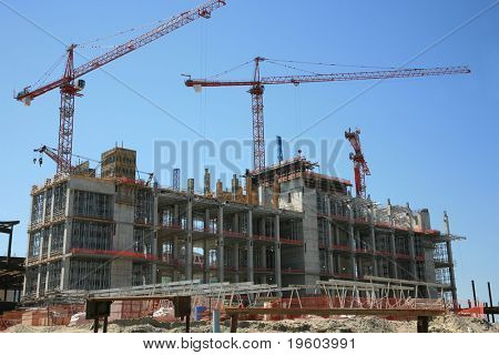 Construction work site stock photo