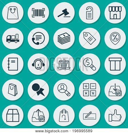 E-Commerce Icons Set. Collection Of Money Transfer, Withdraw Money, Outgoing Earnings And Other Elements stock photo