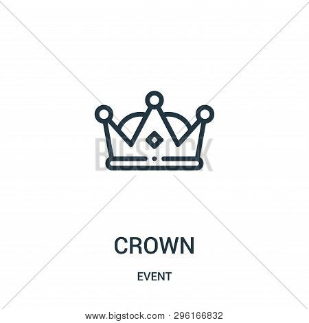 crown icon isolated on white background from event collection. crown icon trendy and modern crown symbol for logo, web, app, UI. crown icon simple sign. crown icon flat vector illustration for graphic and web design. stock photo