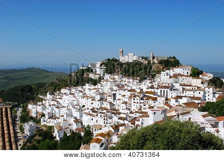 White town, Casares, Andalusia, Spain.