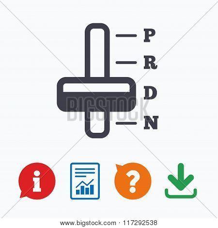 🔥 Automatic transmission sign icon  Auto control