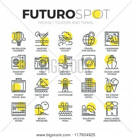 Tourism Recreation Futuro Spot Icons