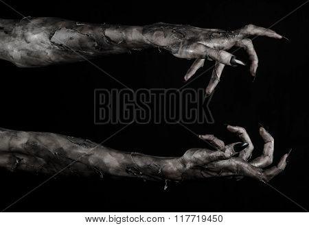 Black Hand Of Death, Zombie Theme, Halloween Theme, Zombie Hands, Black Background