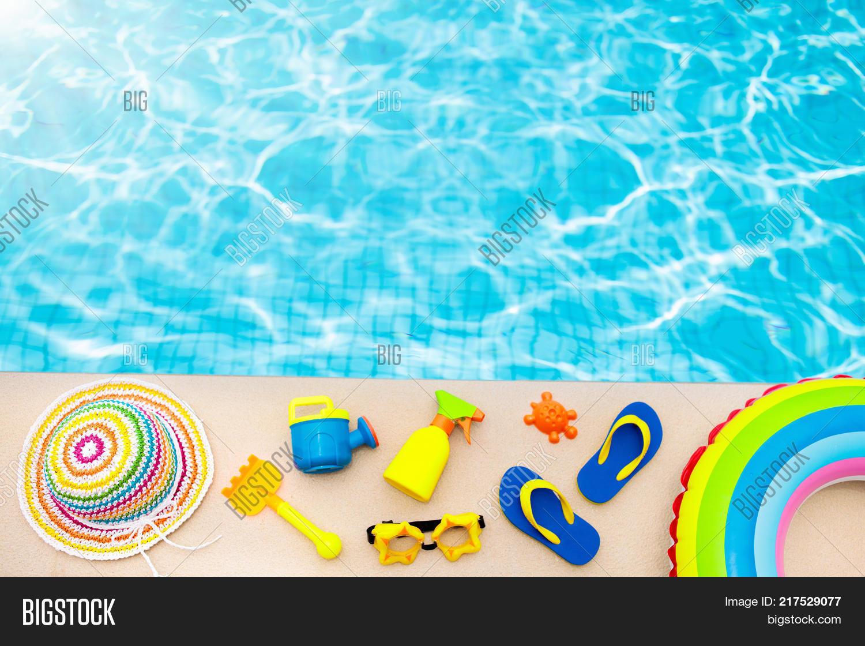 41b77116b 🔥 Pool And Beach Items Flat Lay. Summer Vacation.