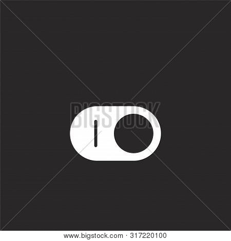 switch icon. switch icon vector flat illustration for graphic and web design isolated on black background from essential compilation collection. switch icon trendy and modern switch symbol for logo, web, app, UI. switch icon simple sign. stock photo