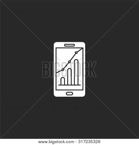 analysis icon. analysis icon vector flat illustration for graphic and web design isolated on black background from financial collection. analysis icon trendy and modern analysis symbol for logo, web, app, UI. analysis icon simple sign. stock photo