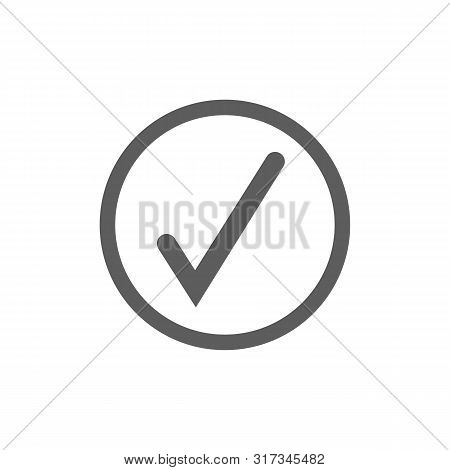 check mark icon vector illustration design template Check mark icon. Green check mark icon. Check list button. Tick icon Check mark icon Flat. stock photo