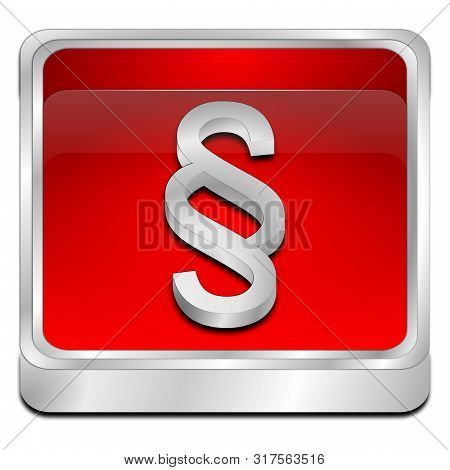 red Law paragraph button - 3D illustration stock photo