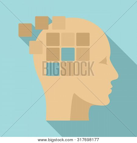Forget memory alzheimer icon. Flat illustration of forget memory alzheimer vector icon for web design stock photo
