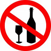 No Beer Drink Alcohol Icon  Ban Sign  Prohibiting Sign For