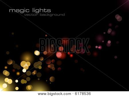 background with defocused lights in warm tones stock photo