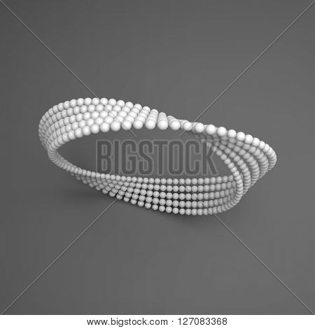 Mobius strip variation. Infinity Sign. Classic Optical Illusion. Moebius loop. Connection Structure. stock photo