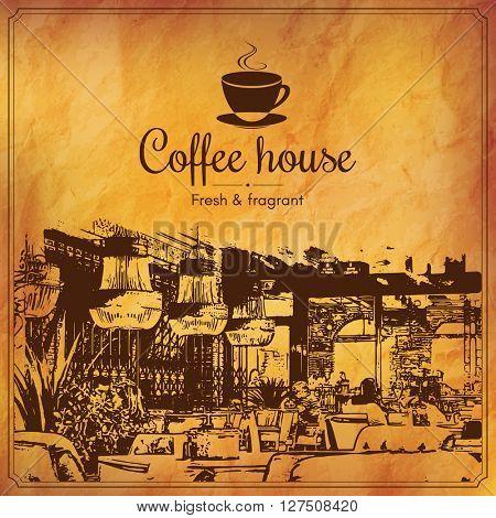 Restaurant menu design. Vector menu brochure template for cafe, coffee house, restaurant, bar. Food