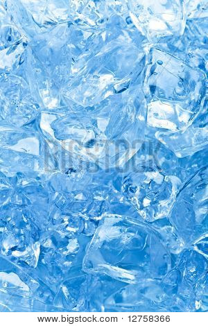 background with ice cubes in blue light-Lg Fridge Magnet Skin (size 36x65)