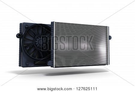 3d illustration car radiator isolated on white background stock photo