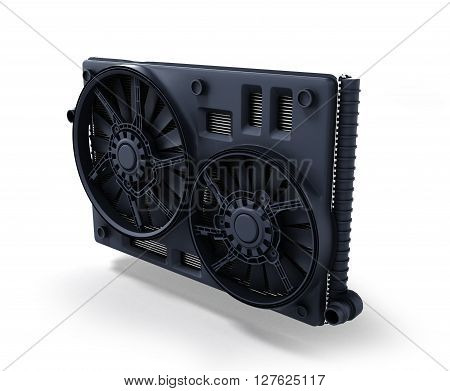 car radiator isolated on white background 3d illustration stock photo