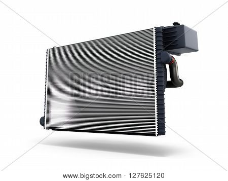 car radiator isolated on white background 3d render stock photo