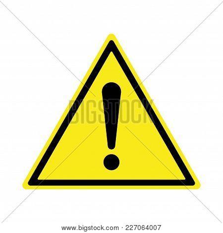 Exclamation Sign, Hazard Warning, Isolated, Caution Icon Warning Symbol, Yellow And Black