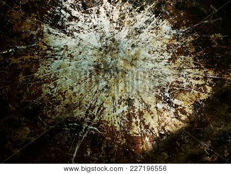 Old piece of grimy metal with scratches and grunge look stock photo