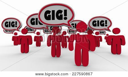Gig Workers Employees Hire Task Job 3d Illustration stock photo