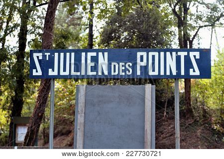 Small tourist train between Sainte Cecile d'Andorge and Saint Julien des Ponts in the French department of Gard offers travelers a walk through woods. stock photo
