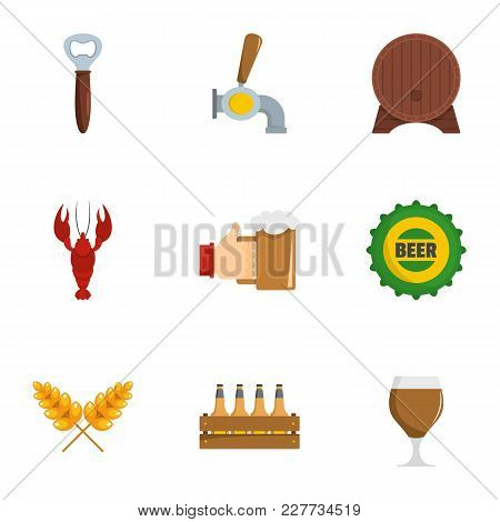 Snackbar icons set. flat set of 9 snackbar vector icons for web isolated on white background stock photo
