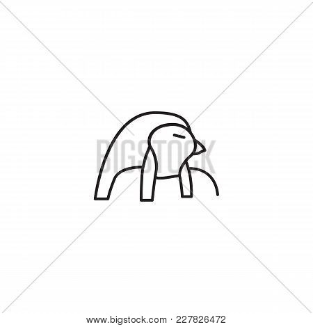 Egyptian god Ra icon in line style. Egypt god Ra object vector illustration isolated on white background. Element of Egyptian culture and tradition stock photo