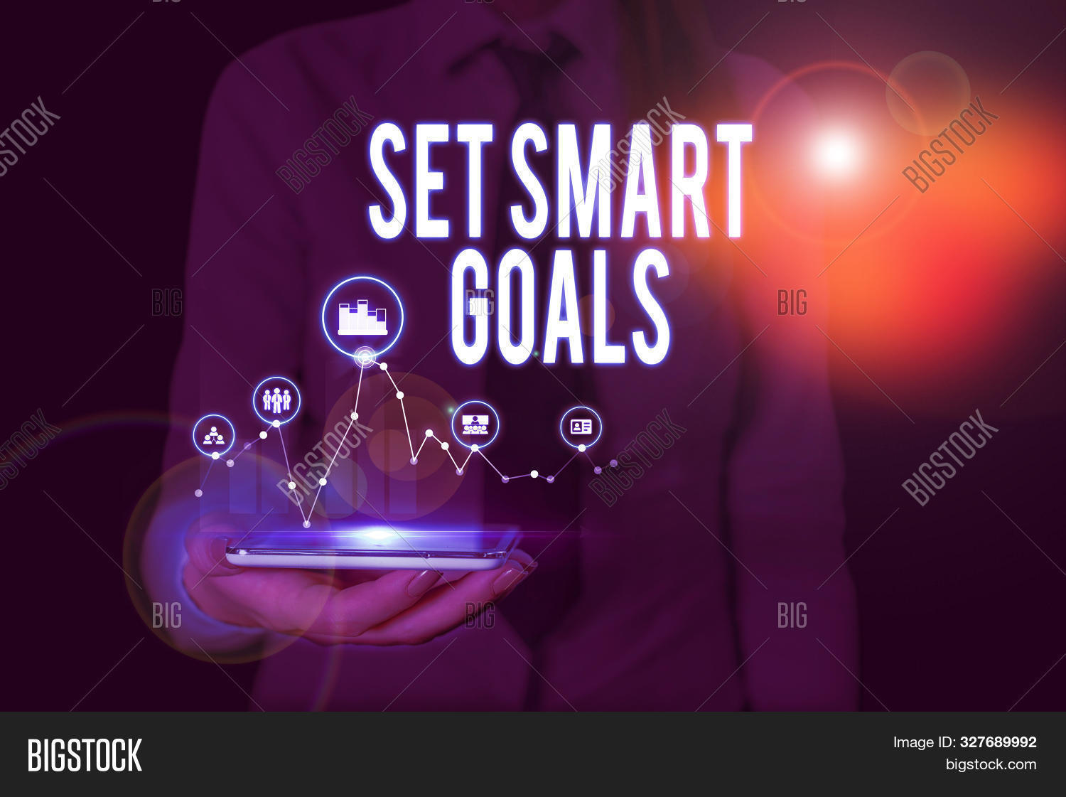 Text Sign Showing Set Smart Goals. Conceptual Photo Giving Criteria To Guide In The Setting Of Objec
