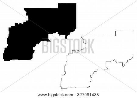 Yukon-Koyukuk Census Area, Alaska (Boroughs and census areas in Alaska, United States of America,USA, U.S., US) map vector illustration, scribble sketch Yukon Koyukuk map stock photo