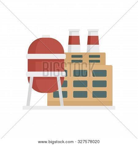 Reserve petrol refinery icon. Flat illustration of reserve petrol refinery vector icon for web design stock photo