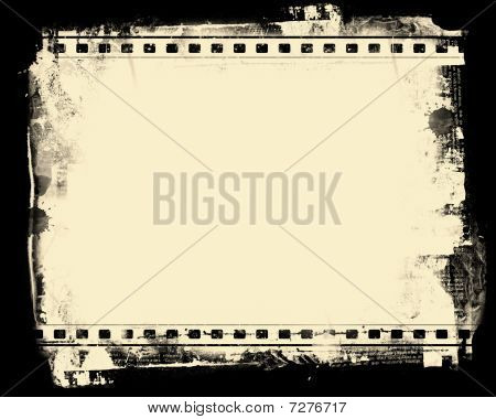 Computer designed highly detailed film frame with space for your text or image.Nice grunge element for your projects stock photo