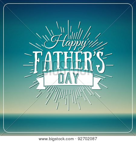 Retro Elements For Father\'s Day Calligraphic Designs. Vintage Ornaments.happy Father\'s Day Typograph