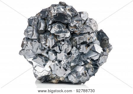Photo of magnetite mineral isolated on white background stock photo