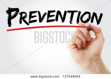 Hand Writing Prevention With Marker
