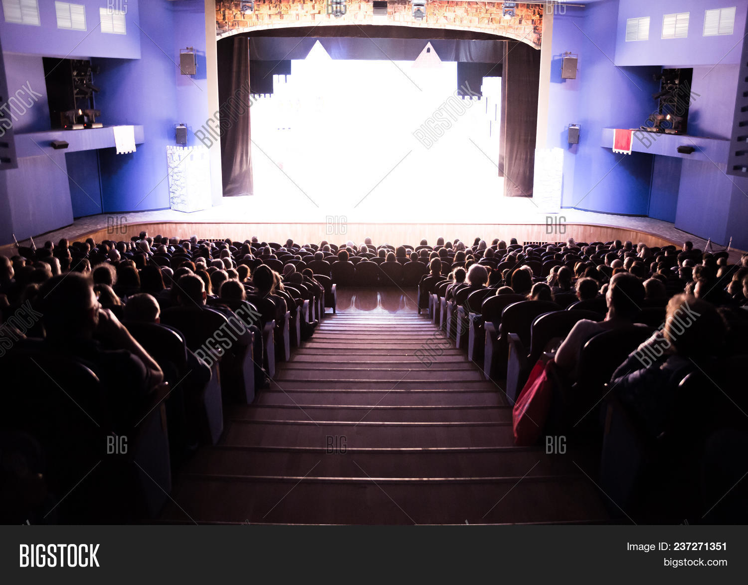 Spectators In The Theater Or In The Cinema Children And Adults Full House 237271351 Image Stock Photo