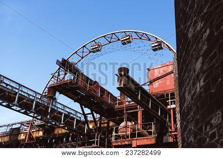 Ferris wheel of zeche zollverein Coal Mine Industrial Complex, Essen, Germany stock photo